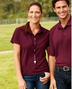 Personalized Harriton Ladies' 3.8 oz. Polytech Mesh Insert Polo