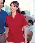 Logo Harriton Ladies' 6.5 oz. Ringspun Cotton Piqu Short-Sleeve Polo