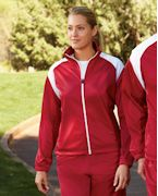 Logo Harriton Ladies' Tricot Track Jacket