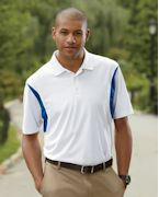 Personalized Harriton Men's Back Blocked Micro-Pique Polo