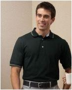 Embroidered Harriton Men's 5.9 oz. Cotton Jersey Short-Sleeve Polo with Tipping