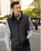 Embroidered Harriton Men's Essential Polyfill Vest