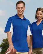 Customized Harriton Men's Side Blocked Micro-Pique Polo
