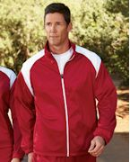 Logo Harriton Men's Tricot Track Jacket