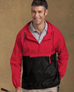 Embroidered Harriton Packable Nylon Jacket