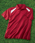 Custom Embroidered Harriton 4 oz. Polytech Colorblock Polo