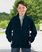 Embroidered Harriton Youth 8 oz. Full-Zip Fleece
