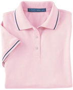 Custom Logo Harvard Square Ladies' Pima Reserve Tipped Polo