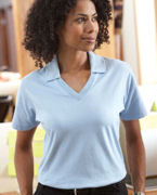 Monogrammed Harvard Square Ladies' Pima Reserve V-Neck Polo