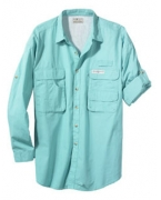Custom Embroidered Hook & Tackle Men's Gulf Stream Long-Sleeve Fishing Shirt