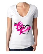 Personalized I Wear Pink For Poochie V-neck by Money Gang