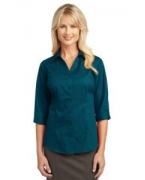 Logo IMPROVED Port Authority� Ladies 3/4-Sleeve Blouse