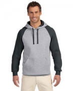 Personalized Jerzees 8 oz., 50/50 NuBlend Colorblock Raglan Pullover Hood