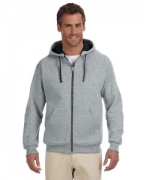 Customized Jerzees 8 oz., 50/50 NuBlend Contrast Full-Zip Hood