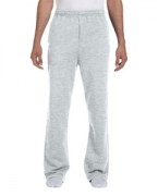 Custom Embroidered Jerzees 8 oz., 50/50 NuBlend Open-Bottom Sweatpants