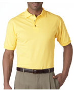 Embroidered Jerzees Adult 100% Cotton Jersey Polo