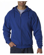 Embroidered Jerzees Adult Hooded Full-Zip Sweatshirt
