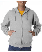 Logo Jerzees Adult SUPER SWEATS Full-Zip Hooded Fleece