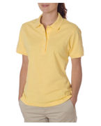 Custom Embroidered Jerzees Ladies Ring-Spun Cotton Pique Polo