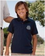 Monogrammed Jerzees Youth 6.5 oz. Cotton Piqu Polo