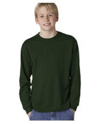 Customized Jerzees Youth Long-Sleeve Heavyweight Blend T-Shirt
