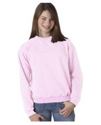 Custom Logo Jerzees Youth Mid-Weight Crewneck Sweatshirt