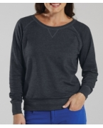 Custom Embroidered LA T Ladies Lightweight French Terry Slouchy Pullover