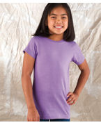 Monogrammed LAT Girls Fine Jersey Longer-Length Tee