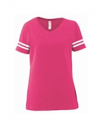 Customized LAT Ladies' Fine Jersey Football Tee