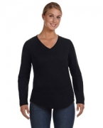 Monogrammed LAT Ladies' V-Neck Pullover