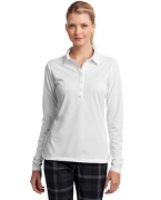 Logo NEW Nike Golf Ladies Long Sleeve Dri-FIT Stretch Tech Polo