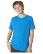 Customized Next Level Boys' Short-sleeve Fine Jersey Crew