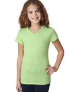 Personalized Next Level Girls' Adorable CVC V-Neck Tee