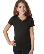 Custom Embroidered Next Level Girls' Adorable V-Neck Tee