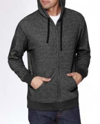 Embroidered Next Level Unisex Denim Fleece Full-Zip Hoodie