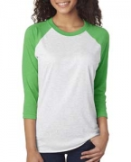 Promotional Next Level Unisex Triblend 3/4-Sleeve Raglan Tee