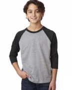 Logo Next Level Youth CVC 3/4-Sleeve Raglan Tee