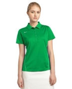 Embroidered Nike Golf Ladies Dri-FIT Sport Swoosh Pique Polo