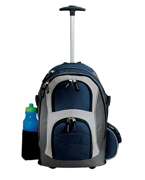 Embroidered Port Authority Wheeled Roller Backpack