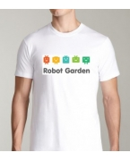 Embroidered Robot Garden T-shirt