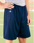 Embroidered Russell Athletic Nylon Tricot Mesh Short