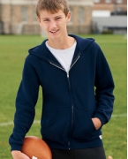 Embroidered Russell Athletic Youth Dri-Power Fleece Full-Zip Hood