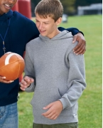 Logo Russell Athletic Youth Dri-Power Fleece Pullover Hood