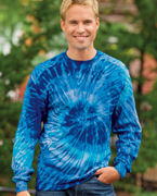 Custom Embroidered Tie-Dye 5.4 oz., 100% Cotton Long-Sleeve Tie-Dyed T-Shirt