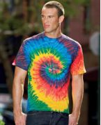 Embroidered Tie-Dye 5.4 oz., 100% Cotton Tie-Dyed T-Shirt