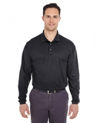Monogrammed UltraClub Adult Cool & Dry Long-Sleeve Mesh Pique Polo