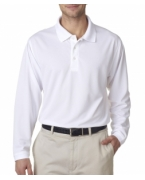 Monogrammed UltraClub Adult Cool & Dry Long-Sleeve Stain-Release Performance Polo