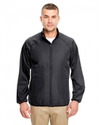 Personalized UltraClub Adult Cool & Dry Quilted Front Full-Zip Lightweight Jacket