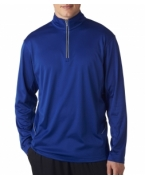 Monogrammed UltraClub Adult Cool & Dry Sport 1/4-Zip Pullover
