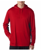 Logo UltraClub Adult Cool & Dry Sport Hooded Pullover